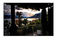 on the veranda, lake como
